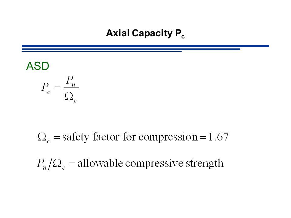 Axial Capacity Pc ASD