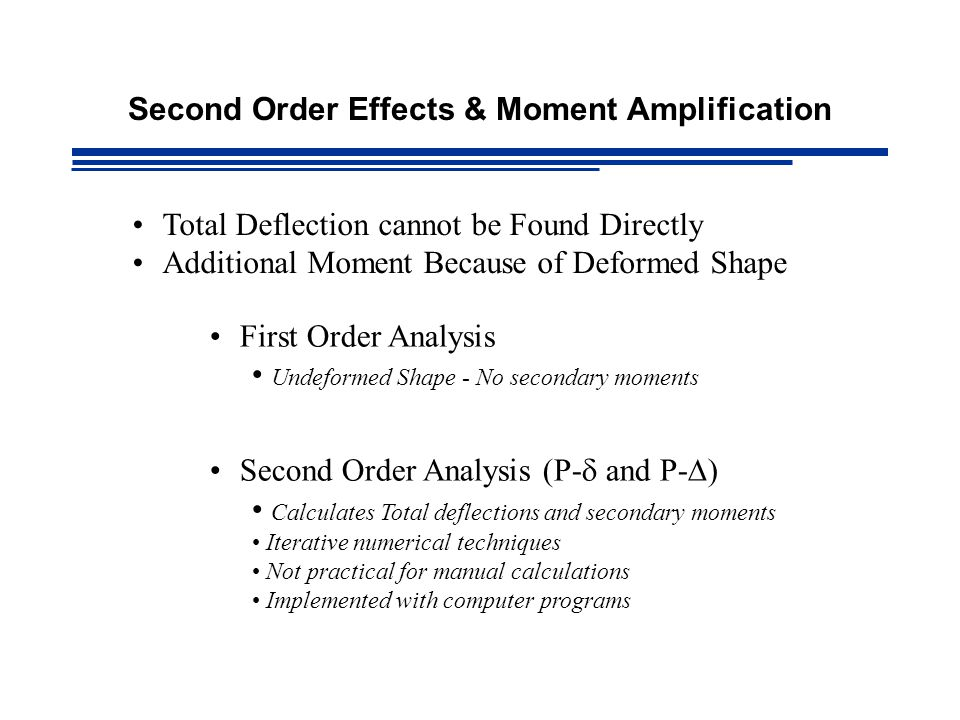 Second Order Effects & Moment Amplification