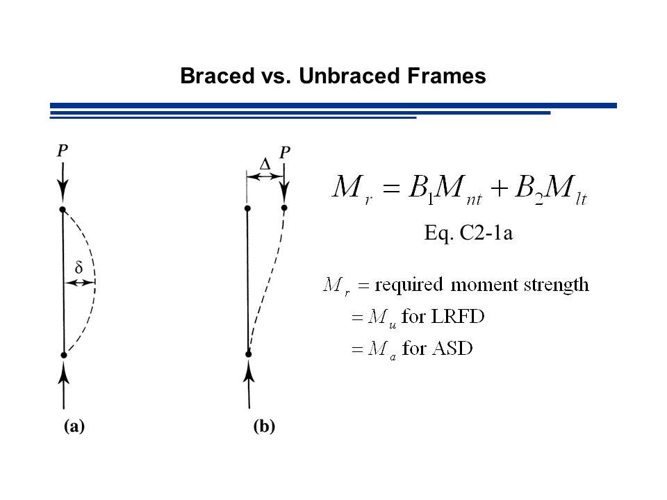 Braced vs. Unbraced Frames