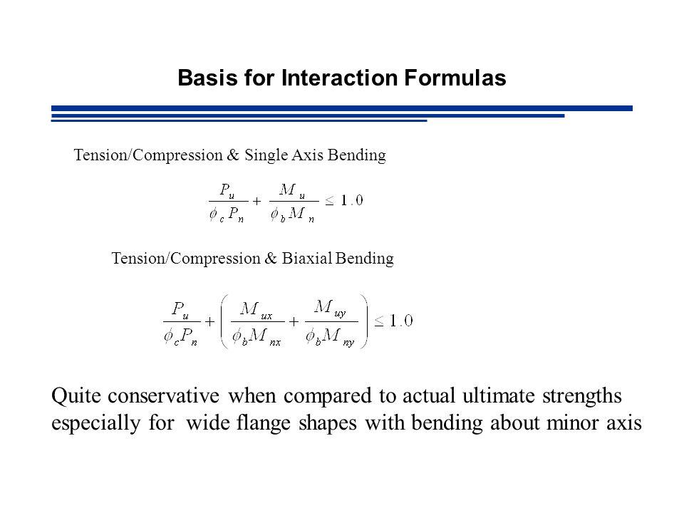 Basis for Interaction Formulas
