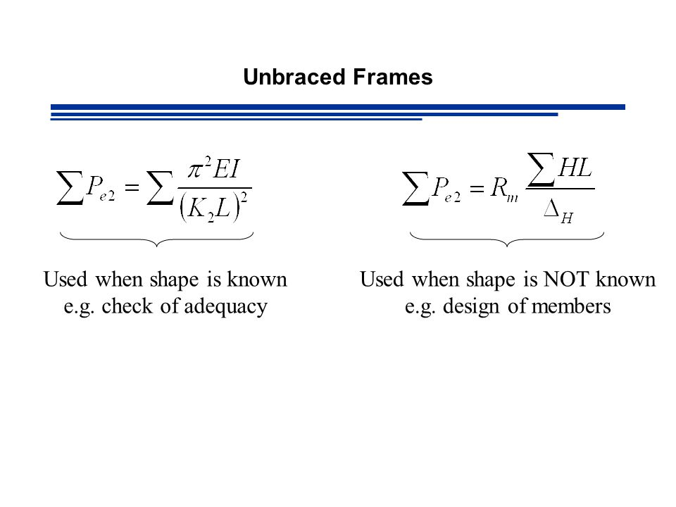 Used when shape is known e.g. check of adequacy