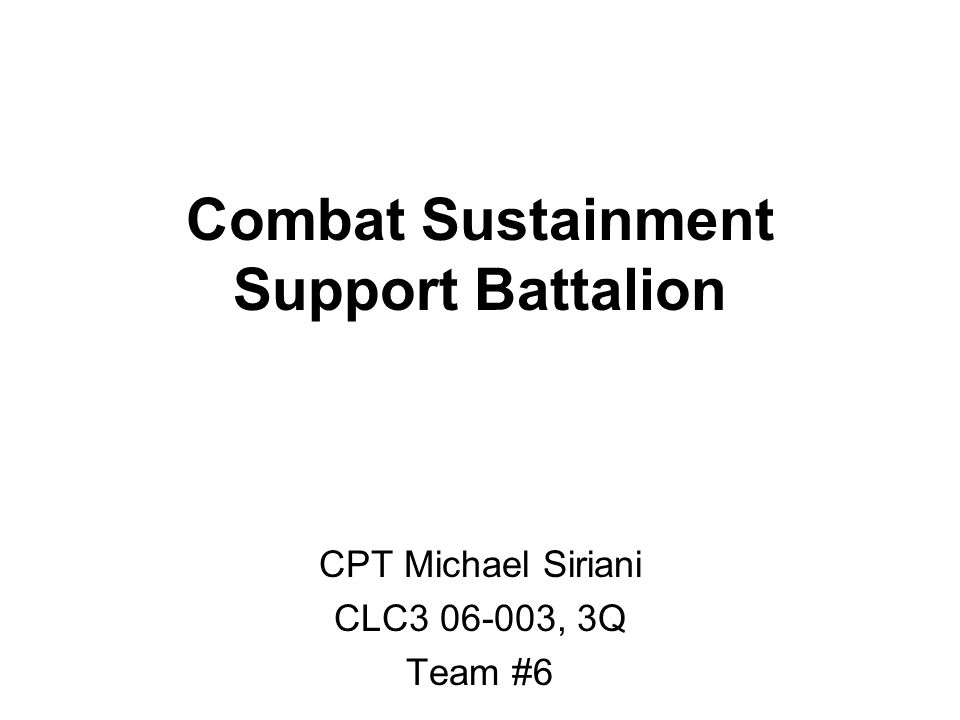 Combat Sustainment Support Battalion