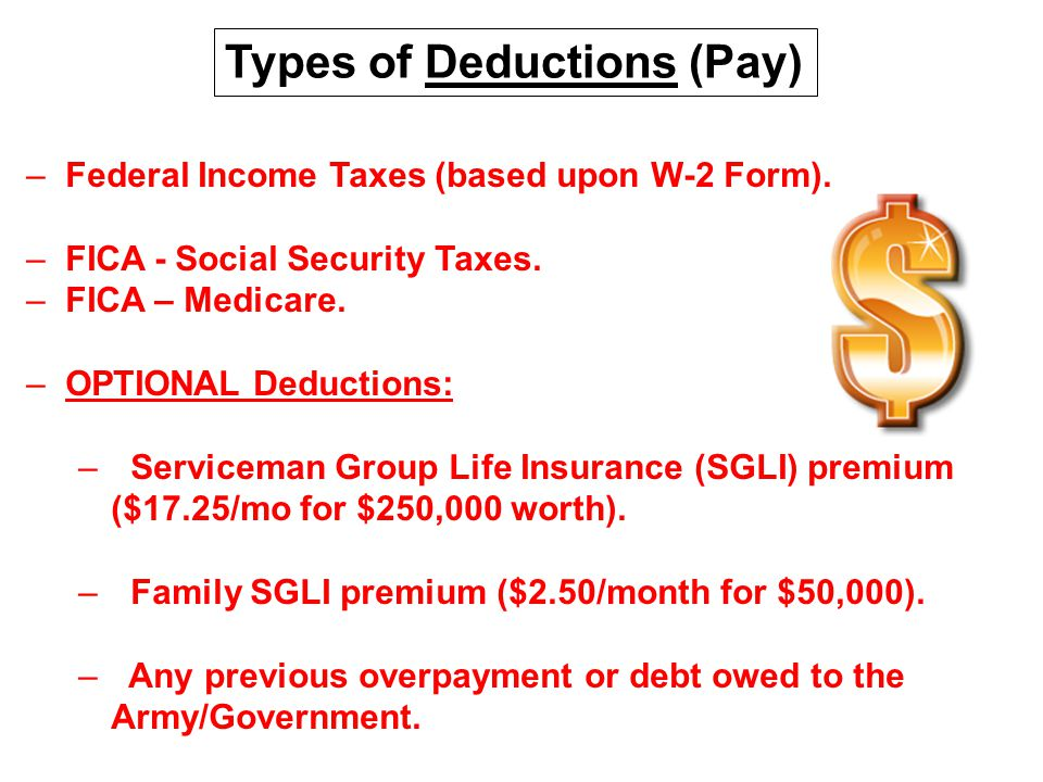 Types of Deductions (Pay)