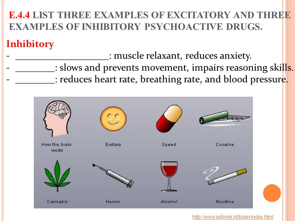___________________: muscle relaxant, reduces anxiety.