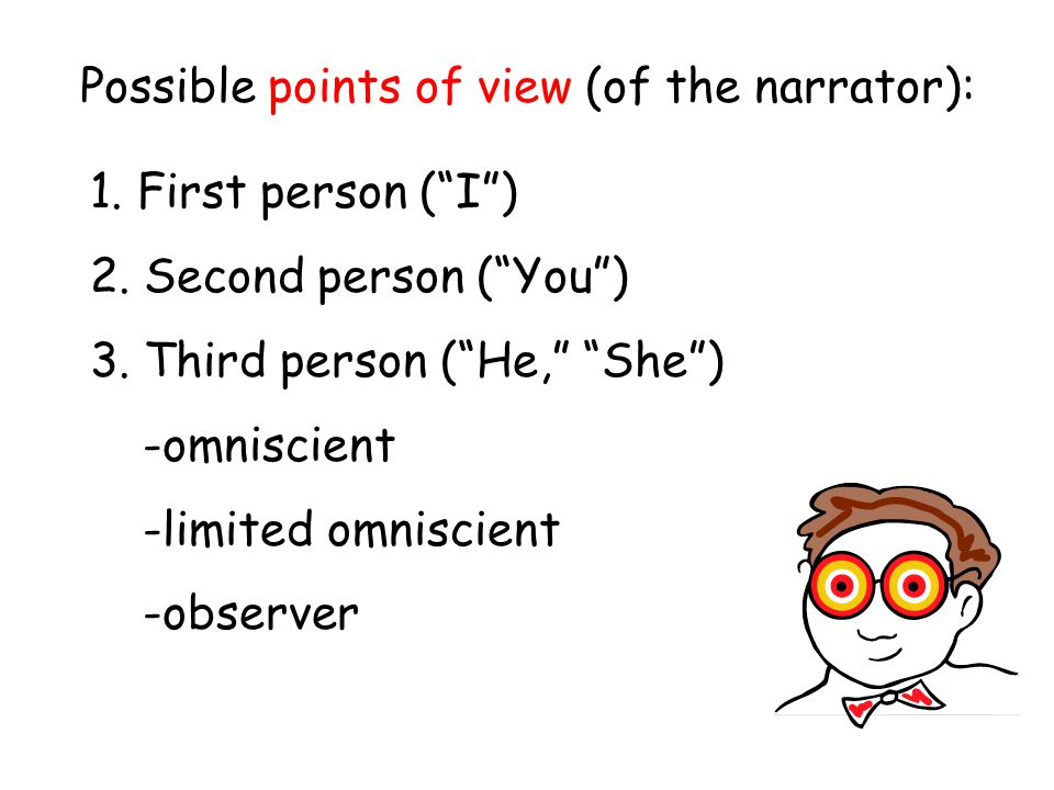 Possible points of view (of the narrator):