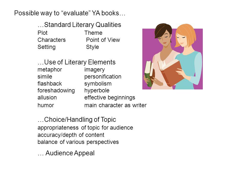 Possible way to evaluate YA books…