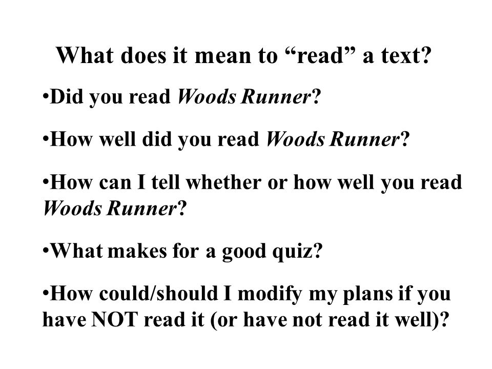 What does it mean to read a text