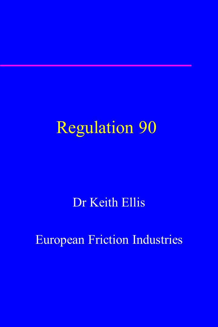 Dr Keith Ellis European Friction Industries