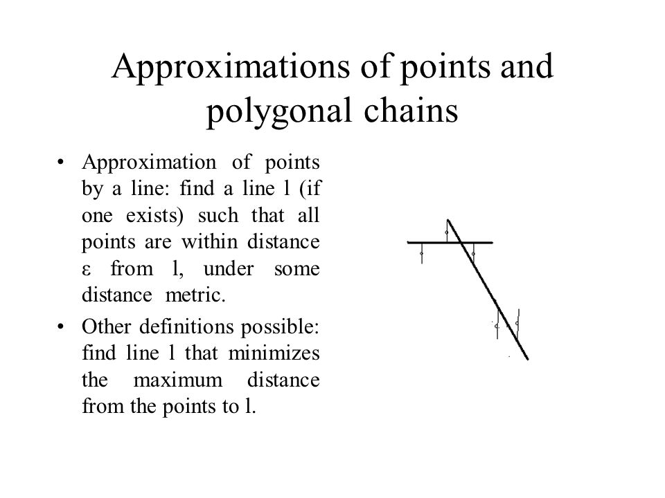 Approximations of points and polygonal chains