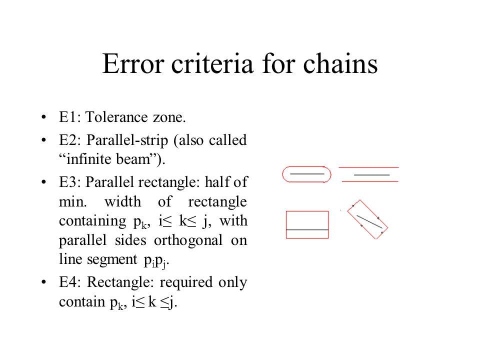 Error criteria for chains