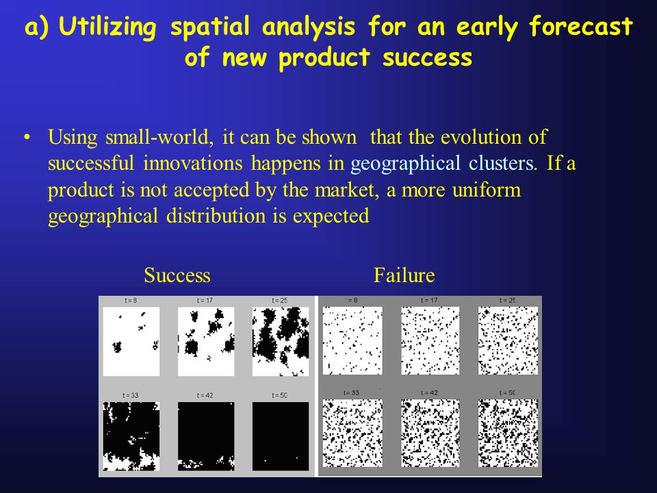 a) Utilizing spatial analysis for an early forecast of new product success