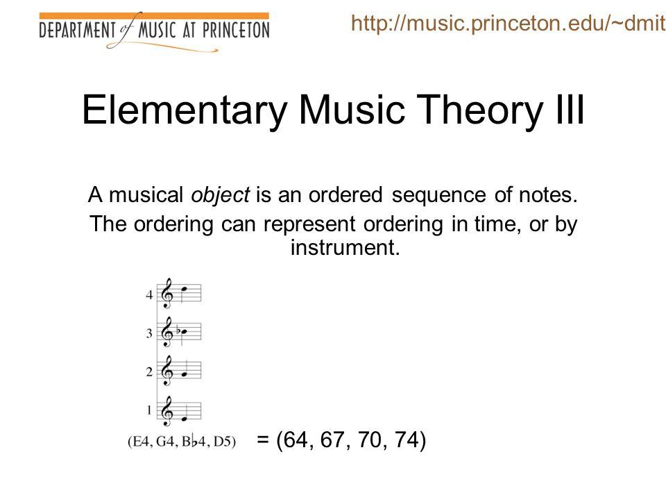 Elementary Music Theory III