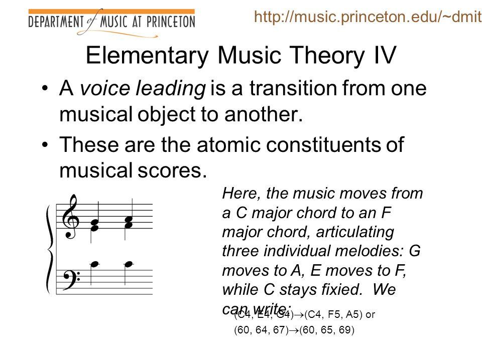 Elementary Music Theory IV