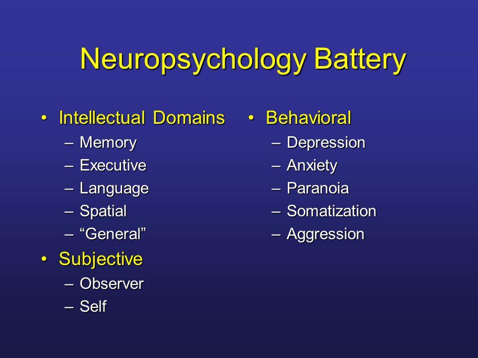 Neuropsychology Battery