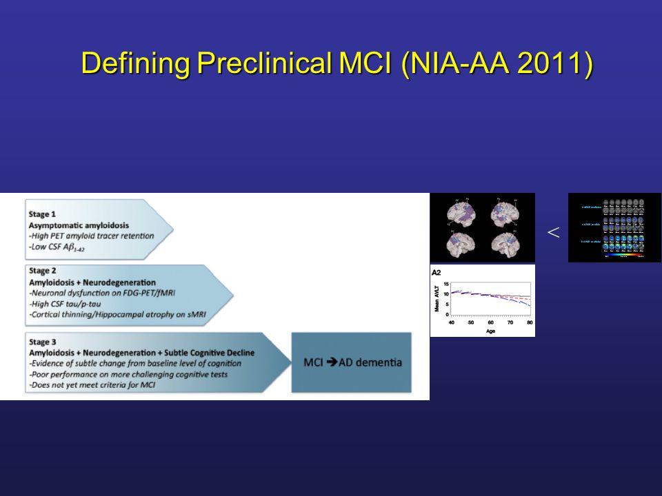 Defining Preclinical MCI (NIA-AA 2011)