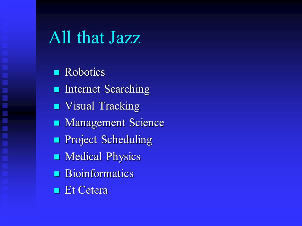All that Jazz Robotics Internet Searching Visual Tracking