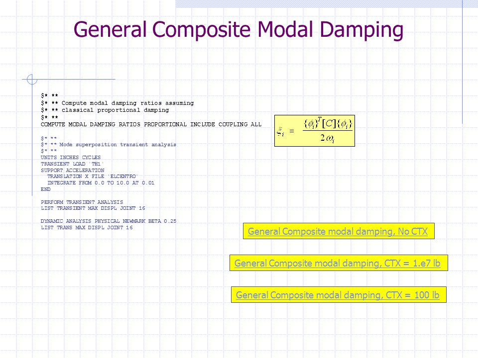General Composite Modal Damping