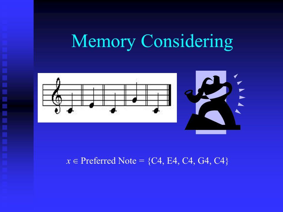Memory Considering x ∈ Preferred Note = {C4, E4, C4, G4, C4}