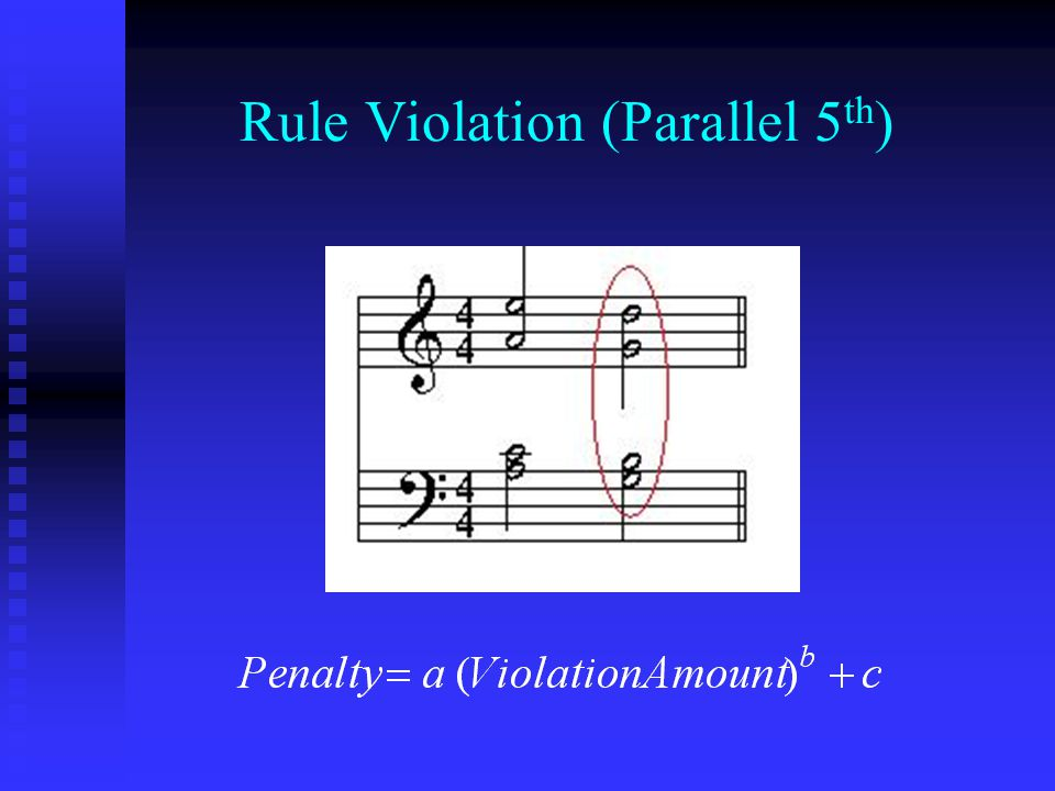 Rule Violation (Parallel 5th)