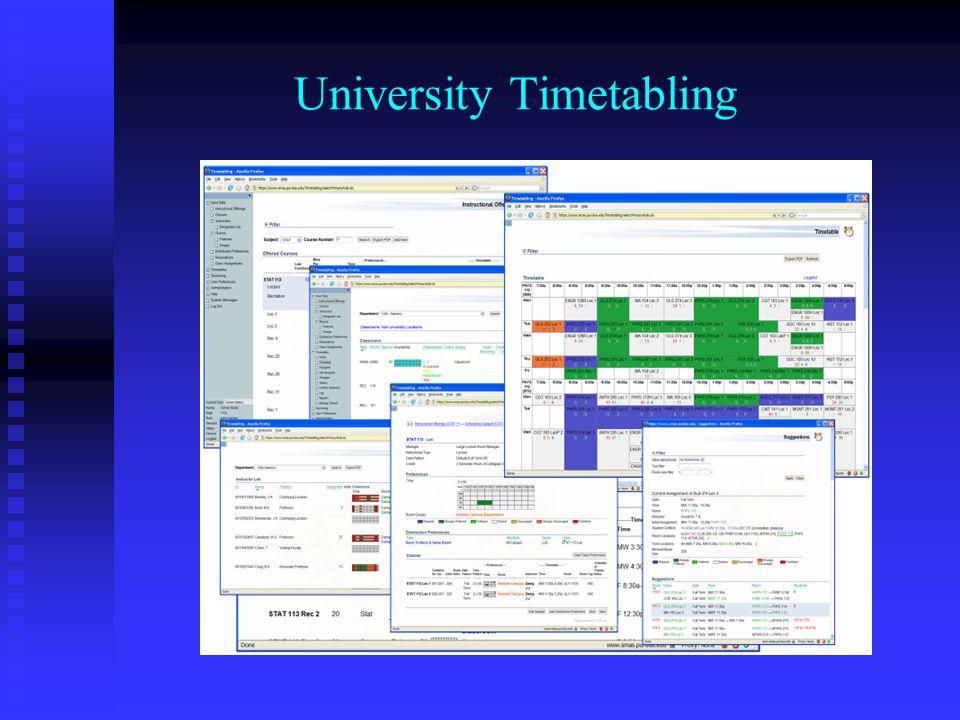 University Timetabling