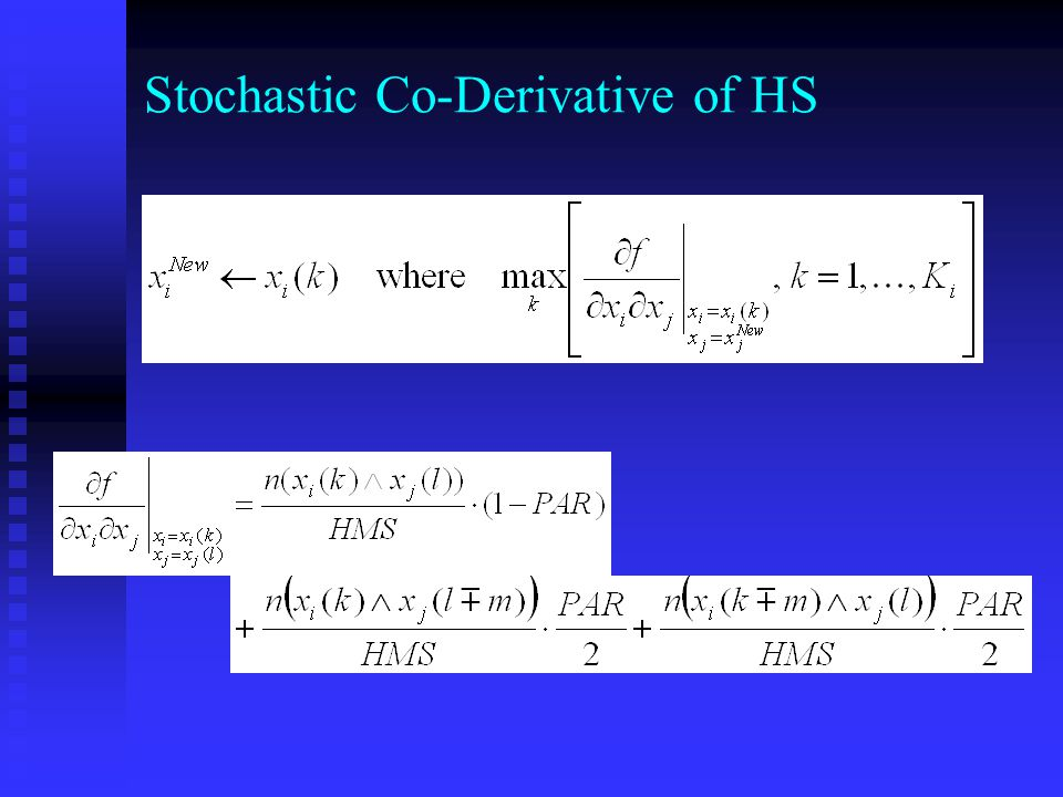 Stochastic Co-Derivative of HS