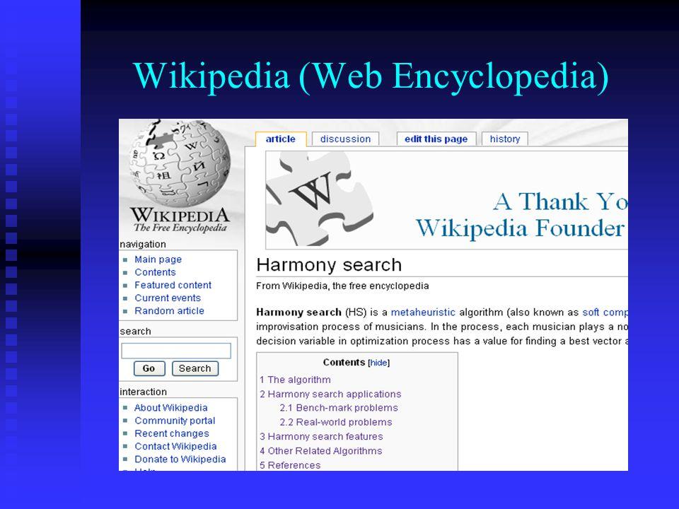 Wikipedia (Web Encyclopedia)