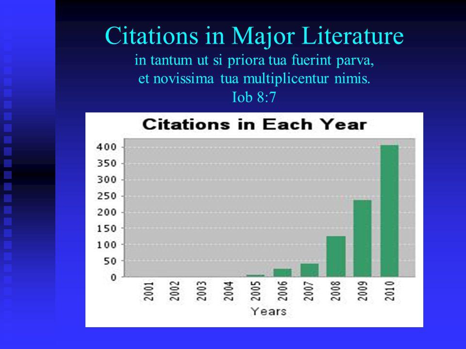 Citations in Major Literature in tantum ut si priora tua fuerint parva, et novissima tua multiplicentur nimis.