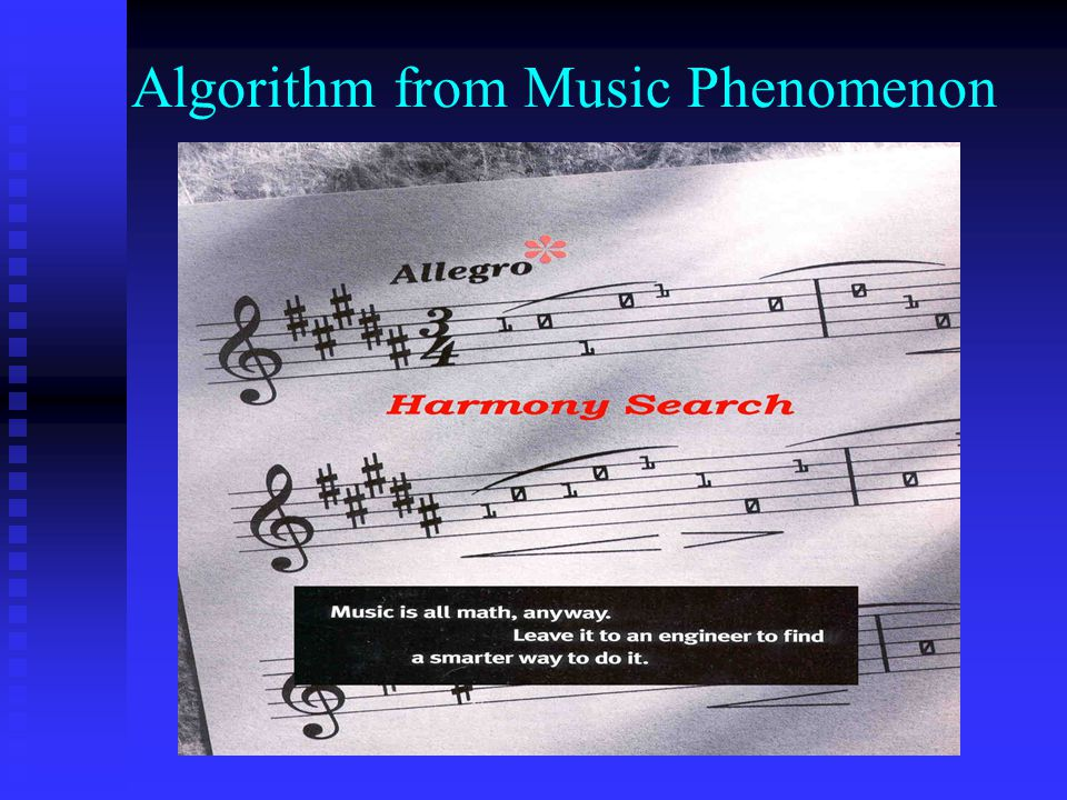 Algorithm from Music Phenomenon