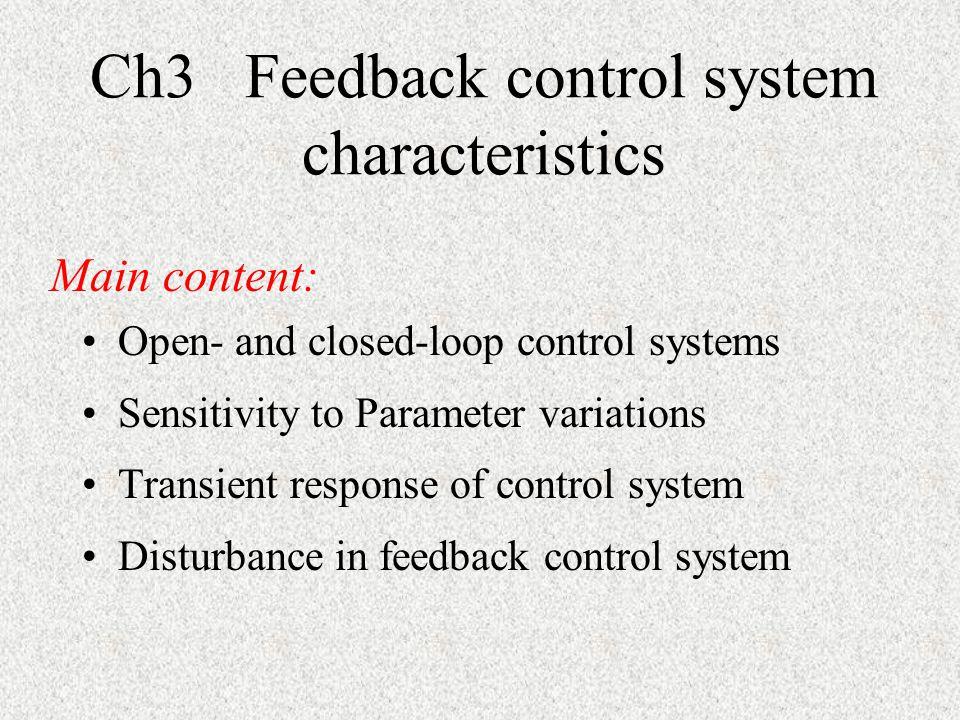Ch3 Feedback control system characteristics