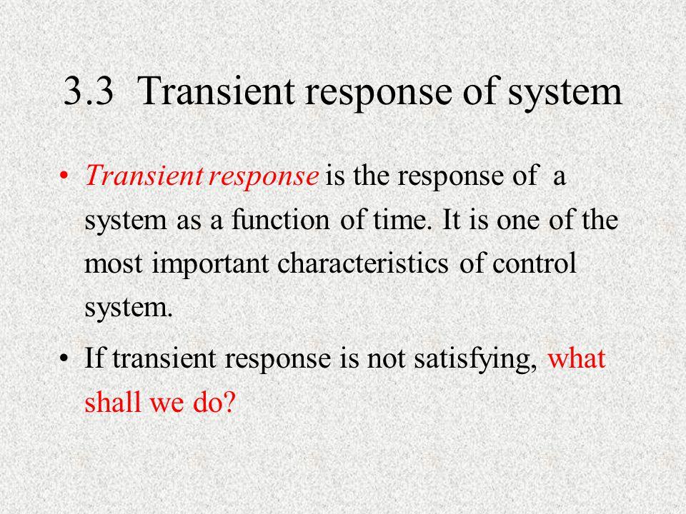 3.3 Transient response of system