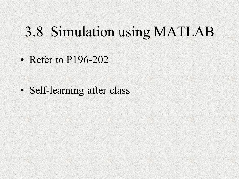 3.8 Simulation using MATLAB