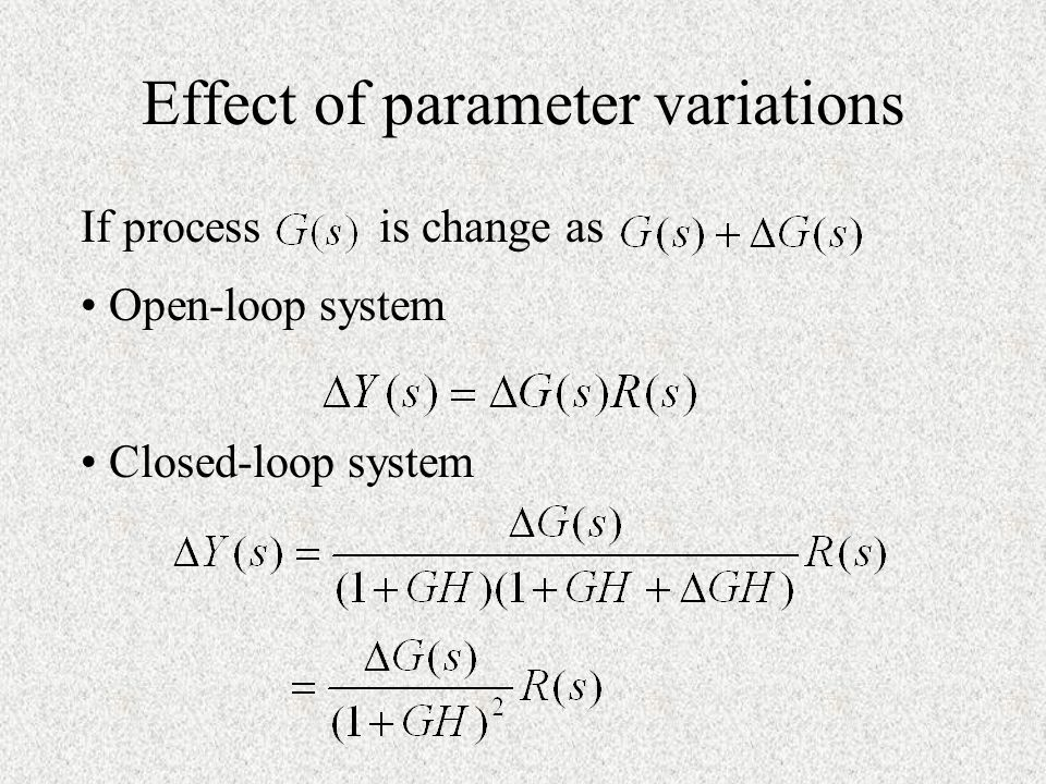 Effect of parameter variations
