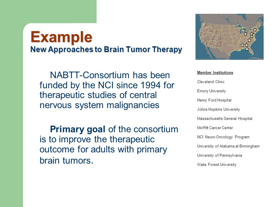 Example New Approaches to Brain Tumor Therapy