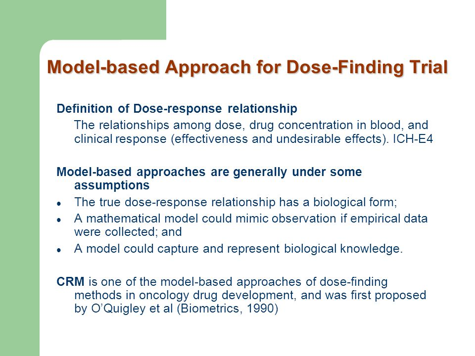 Model-based Approach for Dose-Finding Trial