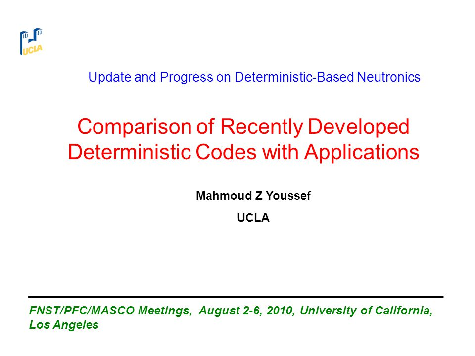Comparison of Recently Developed Deterministic Codes with Applications