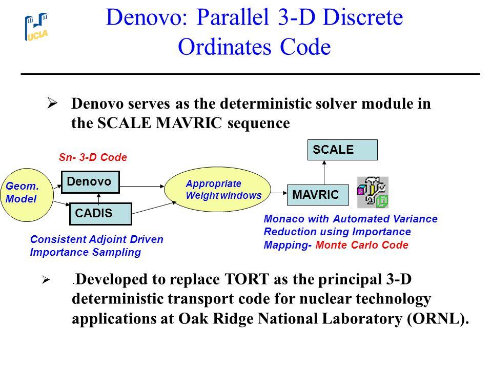 Denovo: Parallel 3-D Discrete Ordinates Code