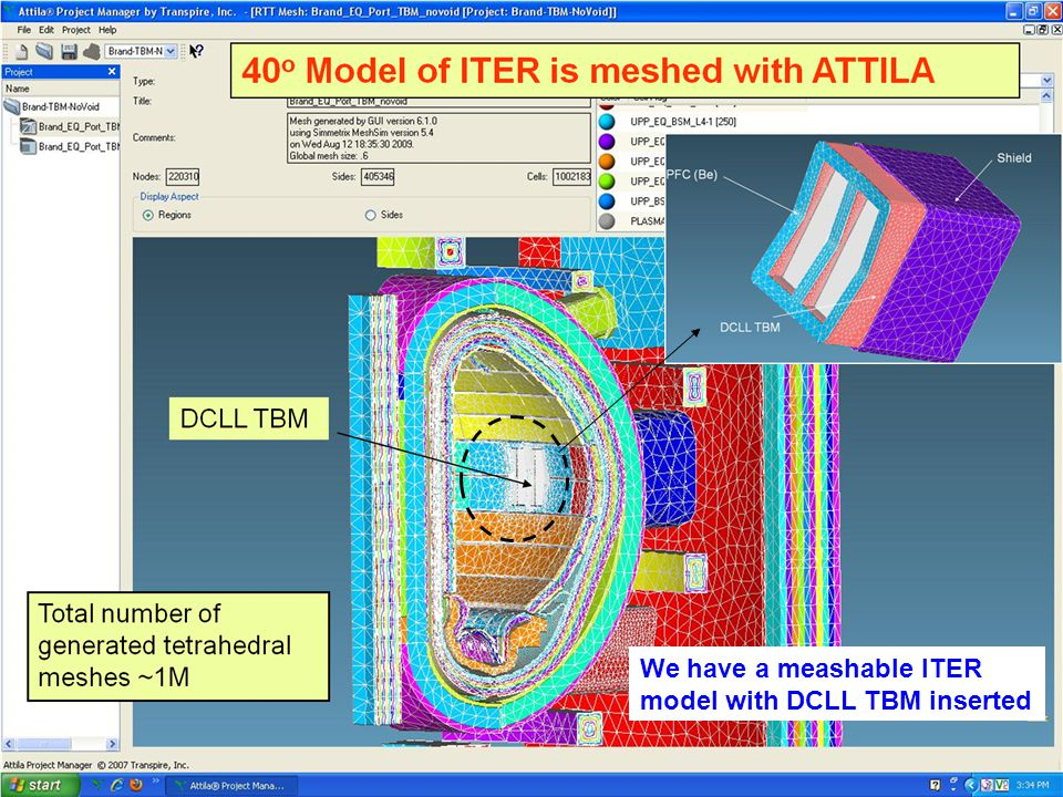 We have a meashable ITER model with DCLL TBM inserted