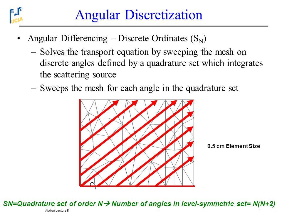 Angular Discretization