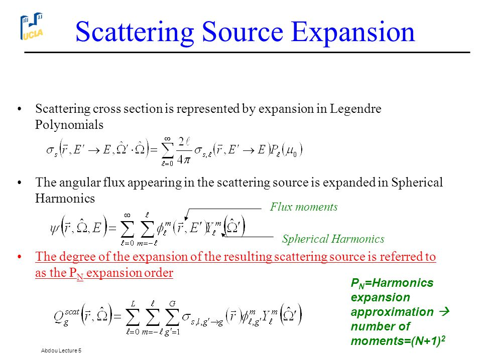 Scattering Source Expansion