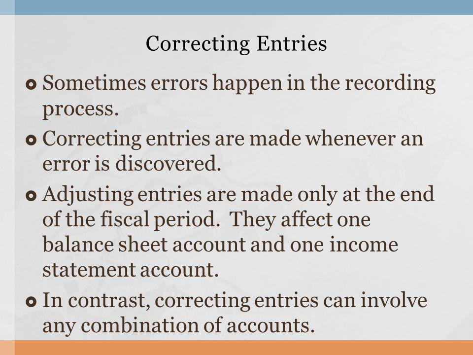 Sometimes errors happen in the recording process.