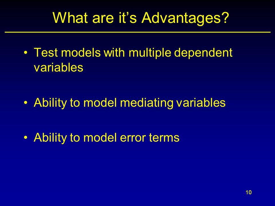 What are it's Advantages