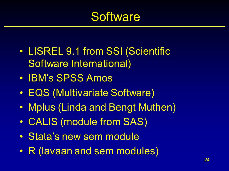Software LISREL 9.1 from SSI (Scientific Software International)