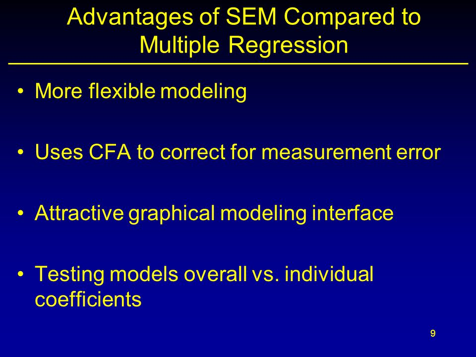 Advantages of SEM Compared to Multiple Regression