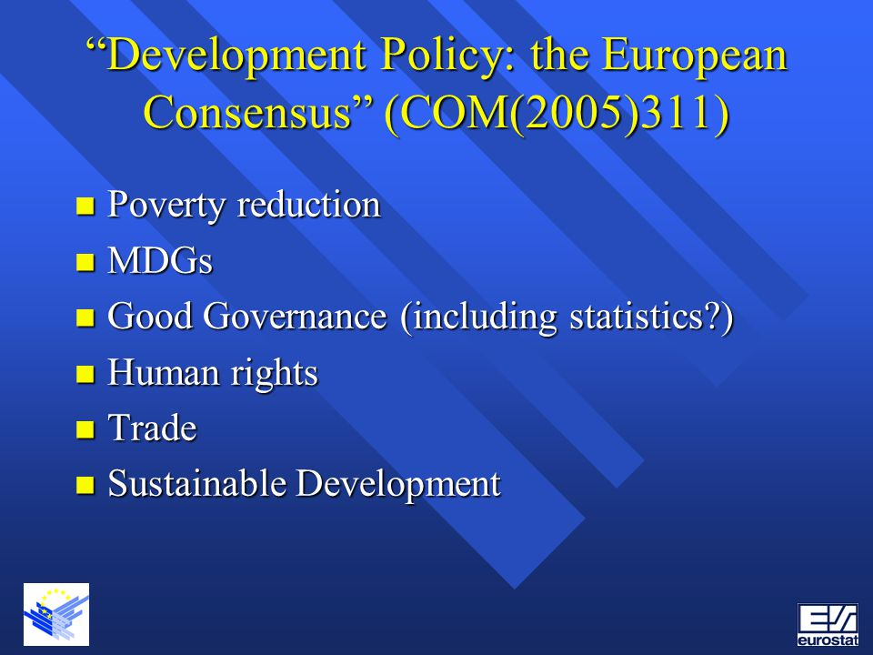 Development Policy: the European Consensus (COM(2005)311)