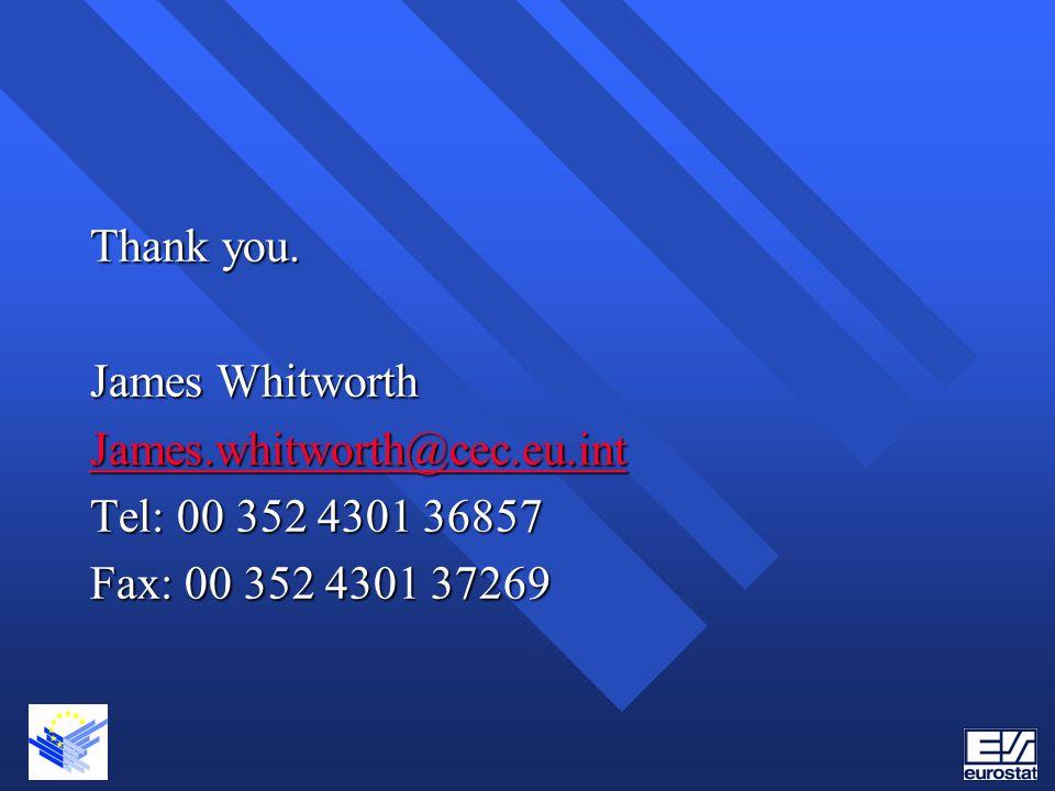 Thank you. James Whitworth James.whitworth@cec.eu.int Tel: 00 352 4301 36857 Fax: 00 352 4301 37269
