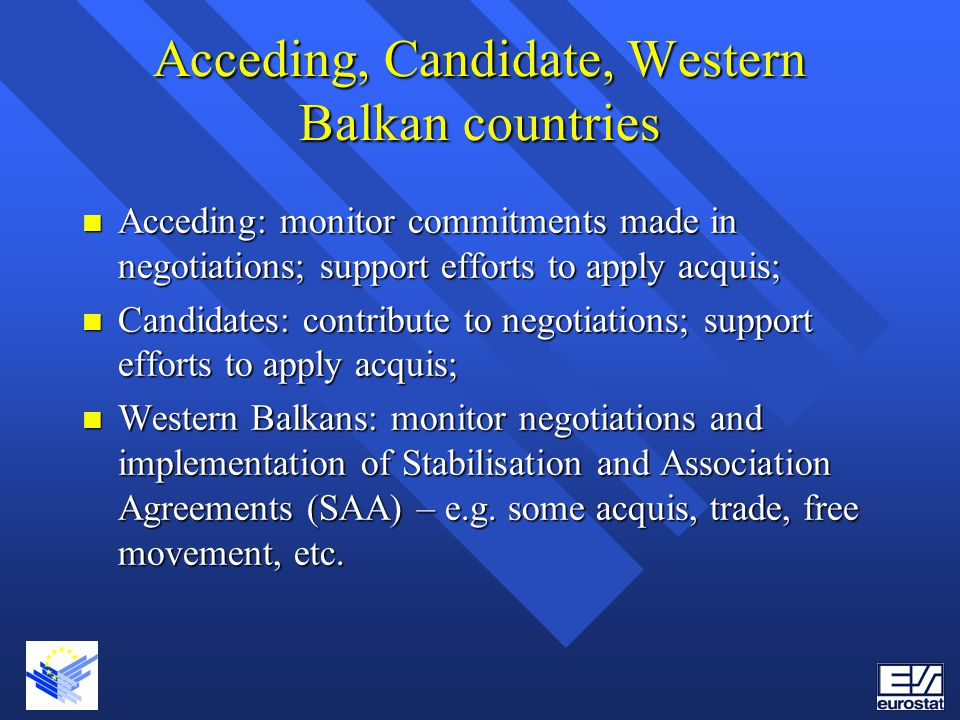 Acceding, Candidate, Western Balkan countries