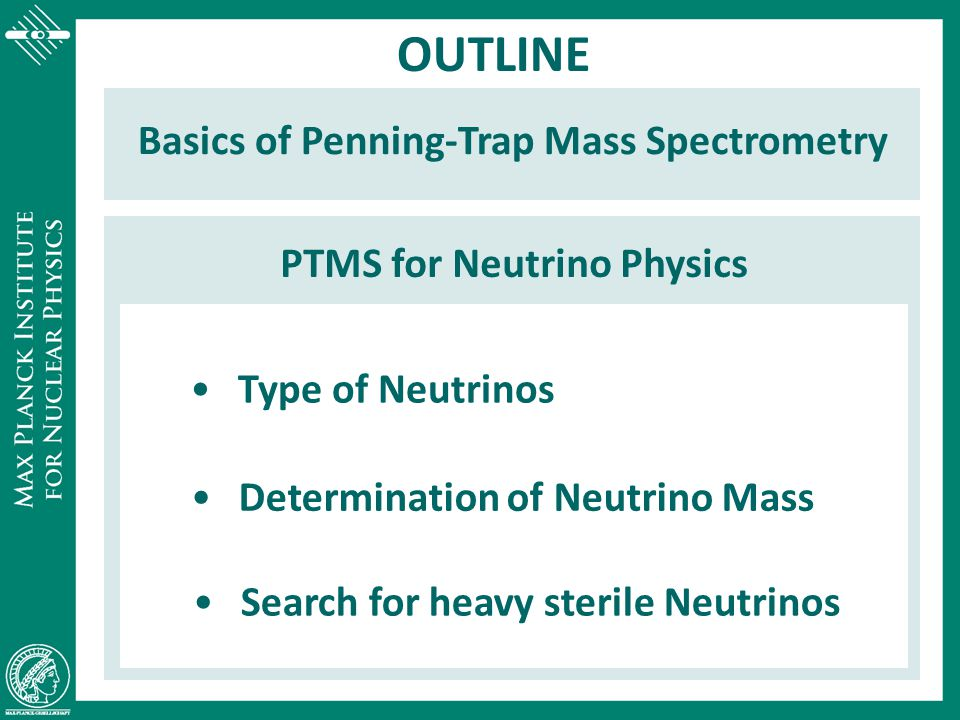 OUTLINE Basics of Penning-Trap Mass Spectrometry
