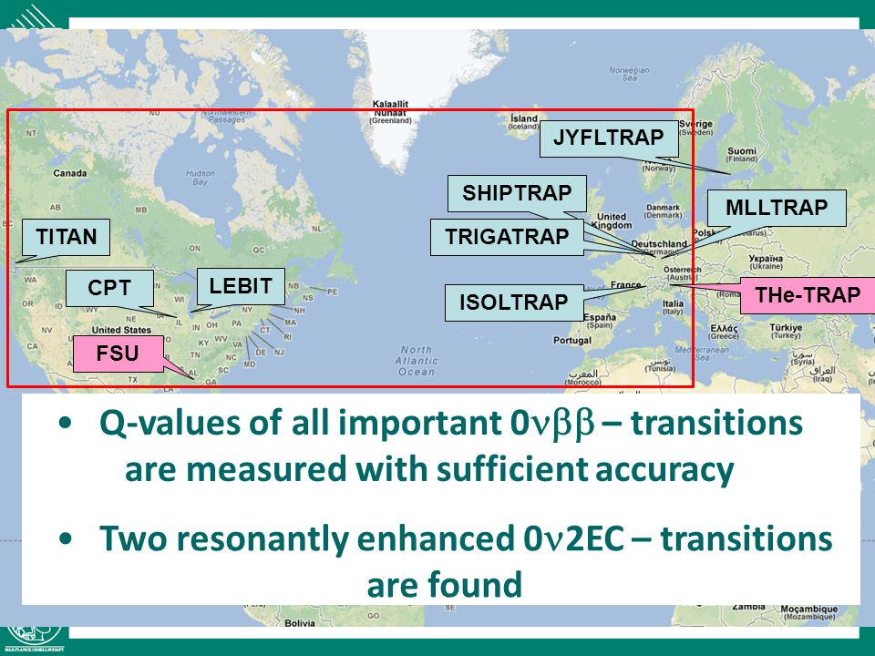 Q-values of all important 0nbb – transitions