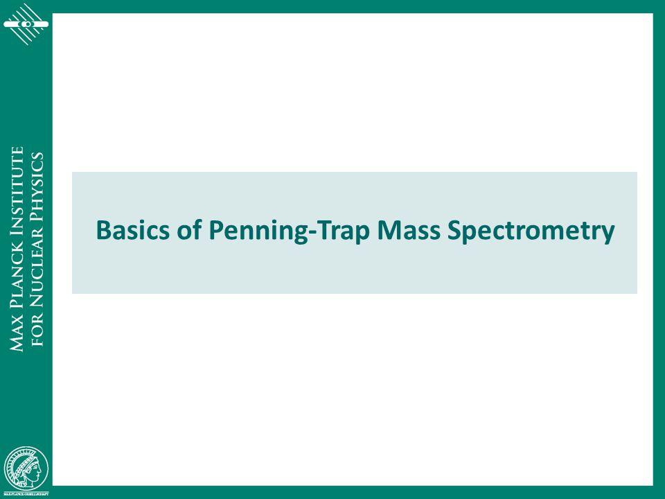 Basics of Penning-Trap Mass Spectrometry