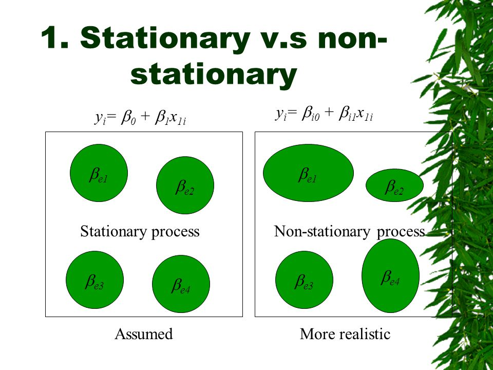 1. Stationary v.s non-stationary